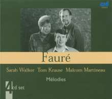 Gabriel Faure (1845-1924): Lieder (Ges.-Aufn.), 4 CDs