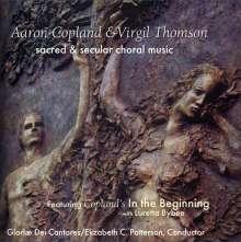 Aaron Copland (1900-1990): Geistliche Chorwerke, CD
