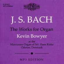 Johann Sebastian Bach (1685-1750): Sämtliche Orgelwerke (MP3-Format), 8 MP3-CDs