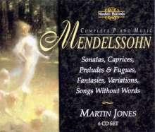 Felix Mendelssohn Bartholdy (1809-1847): Sämtliche Klavierwerke, 6 CDs