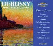 Claude Debussy (1862-1918): Sämtliche Klavierwerke, 5 CDs