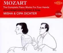 Wolfgang Amadeus Mozart (1756-1791): Klavierwerke zu 4 Händen, 3 CDs
