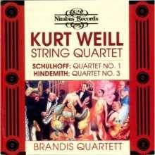 Kurt Weill (1900-1950): Streichquartett op.8 (1923), CD