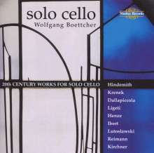 Wolfgang Boettcher - 20th Century Works f.Cello solo, CD