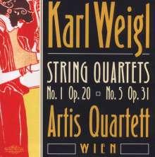 Karl Weigl (1881-1949): Streichquartette Nr.1 & 5, CD