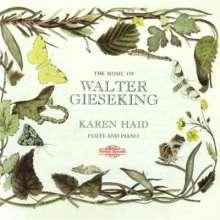 Walter Gieseking (1895-1956): Werke für Flöte & Klavier, CD