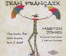 Jean Francaix (1912-1997): Musik für Klavier, Klavier 4-händig und 2 Klaviere, 3 CDs