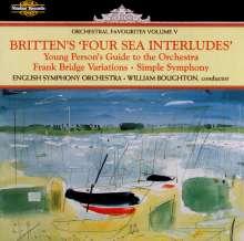 Benjamin Britten (1913-1976): Four Sea Interludes op.33a, CD