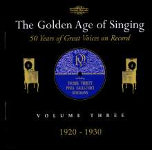 The Golden Age of Singing Vol.3:1920-1930, 2 CDs