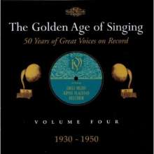 The Golden Age of Singing Vol.4:1930-1950, 2 CDs