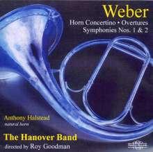 Carl Maria von Weber (1786-1826): Symphonien Nr.1 & 2, 2 CDs
