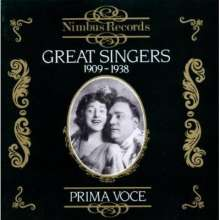 Great Singers 1909-1938, CD
