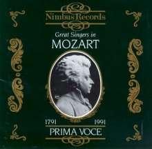 Berühmte Mozart-Sänger, CD