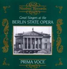 Great Singers at the Berlin State Opera, CD