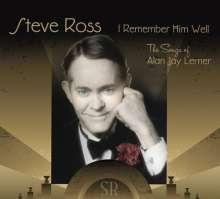 Steve Ross: I Remember Him Well: The Songs, CD