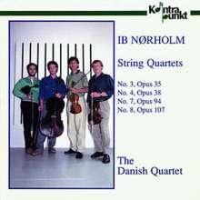 Ib Nörholm (1931-2019): Streichquartette Nr.3,4,7,8, CD