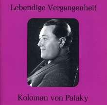 Koloman von Pataky singt Arien, CD