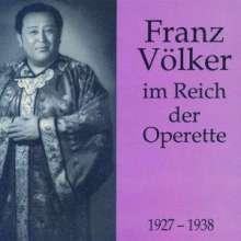 Franz Völker im Reich der Operette, 2 CDs