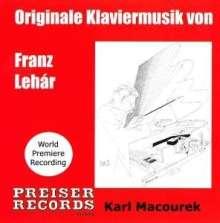 Franz Lehar (1870-1948): Klaviermusik, CD