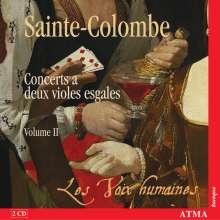 Sieur de Sainte-Colombe (1640-1700): Concerts Nr.19-35 für 2 siebensaitige Gamben, 2 CDs