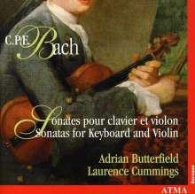 Carl Philipp Emanuel Bach (1714-1788): Sonaten für Violine & Cembalo Wq.73,77,78, CD