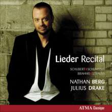 Nathan Berg - Lieder Recital, CD