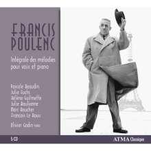 Francis Poulenc (1899-1963): Sämtliche Lieder, 5 CDs