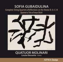 Sofia Gubaidulina (geb. 1931): Streichquartette Nr.1-4, 2 CDs