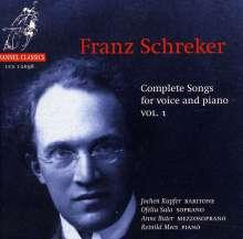 Franz Schreker (1878-1934): Sämtliche Lieder Vol.1, CD
