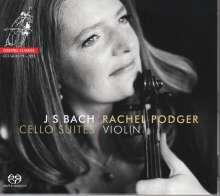 Johann Sebastian Bach (1685-1750): Cellosuiten BWV 1007-1012 (in der Fassung für Violine), 2 SACDs