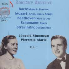 Leopold Simoneau & Pierrette Alarie - Legendary Treasures 1, 4 CDs