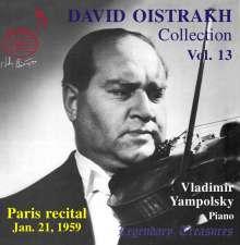 David Oistrach - Legendary Treasures Vol.13, CD