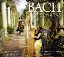 Johann Sebastian Bach (1685-1750): Sonaten BWV 1014,1016,1020,1030 für Violine & Harfe, SACD