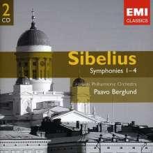 Jean Sibelius (1865-1957): Symphonien Nr.1-4, 2 CDs