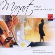 Wolfgang Amadeus Mozart (1756-1791): Violinkonzerte Nr.3-5, CD