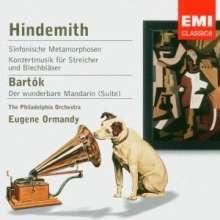 Paul Hindemith (1895-1963): Konzertmusik f.Streicher & Bläser op.50, CD