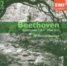 Ludwig van Beethoven (1770-1827): Symphonien Nr.2 & 7, 2 CDs