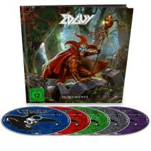 Edguy: Monuments (EarBook) (Limited-Edition), 4 CDs und 1 DVD