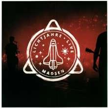 Madsen: Lichtjahre Live (180g) (Limited Edition) (Clear/Red Splatter Vinyl), 2 LPs