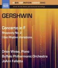 George Gershwin (1898-1937): Klavierkonzert in F, Blu-ray Audio
