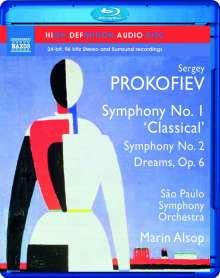 Serge Prokofieff (1891-1953): Symphonien Nr.1 & 2, Blu-ray Audio