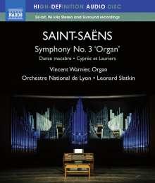 "Camille Saint-Saens (1835-1921): Symphonie Nr.3 ""Orgelsymphonie"", Blu-ray Audio"