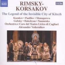 Nikolai Rimsky-Korssakoff (1844-1908): Die Legende der unsichtbaren Stadt Kitesh, 3 CDs