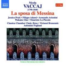 Nicola Vaccai (1790-1848): La sposa di Messina, 2 CDs