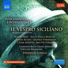 Peter Joseph von Lindpaintner (1791-1856): Il Vespro siciliano, 4 CDs