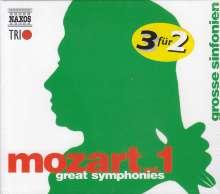 Wolfgang Amadeus Mozart (1756-1791): Naxos Mozart-Edition 1 - Große Symphonien, 3 CDs