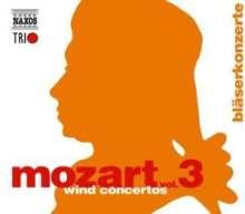 Wolfgang Amadeus Mozart (1756-1791): Naxos Mozart-Edition 3 - Bläserkonzerte, 3 CDs