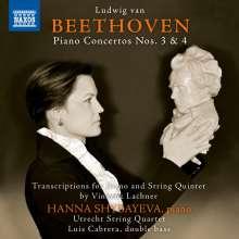 Ludwig van Beethoven (1770-1827): Klavierkonzerte Nr.3 & 4 für Klavier & Streichquintett (Transkriptionen von Vinzenz Lachner), CD