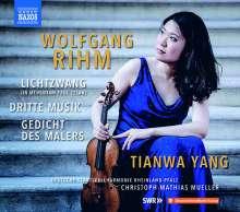 Wolfgang Rihm (geb. 1952): Werke für Violine & Orchester Vol.1 (deutsche Version), CD