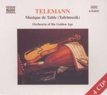 Georg Philipp Telemann (1681-1767): Tafelmusik Vol.1-4 (Teile 1-3), 4 CDs